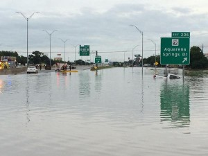 This was my exit. We lived less than half a mile down the access road. (Paul Shelton/KXAN News)